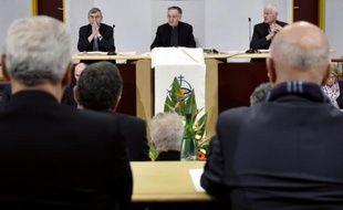 Le président de la Conférence des évêques de France (CEF) Georges Pontier le 3 novembre 2015 à Lourdes