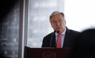 Antonio Guterres, ancien Premier ministre portugais, est le secrétaire général de l'ONU depuis janvier 2017.