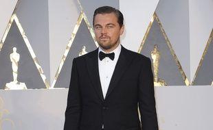 L'acteur Leonardo DiCaprio à la 88e cérémonie des Oscars