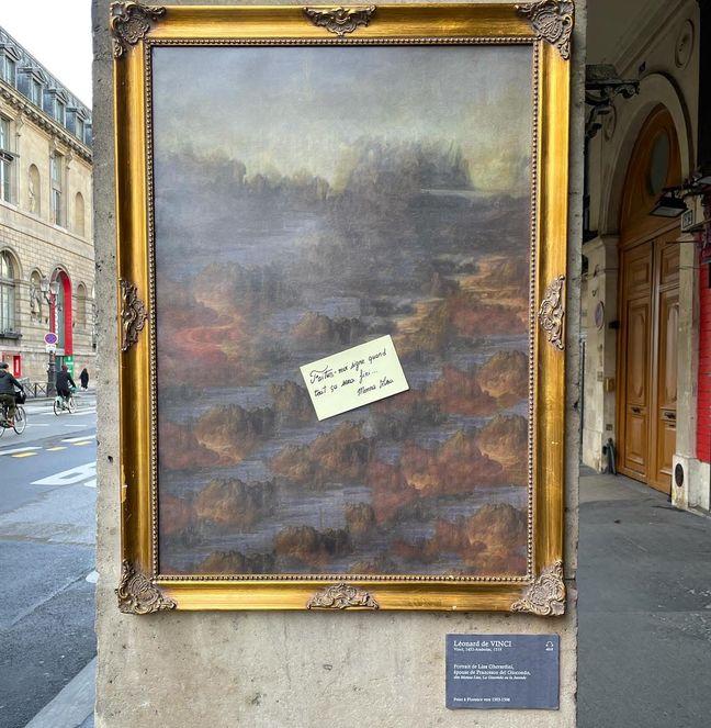 L'œuvre de Toolate installée rue de Rivoli à Paris