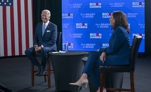 Joe Biden et Kamala Harris, le 12 août 2020.