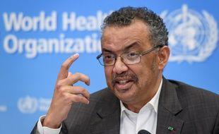Le directeur général de l'OMS, Tedros Adhanom Ghebreyesus, le 30 janvier 2020 à Genève.