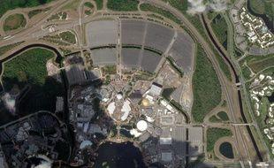 Vue satellite du complexe ESPN Wide World of Sports, à Disney World, à Orlando, en Floride, qui doit accueillir la reprise de la MLS et de la NBA en juillet 2020.