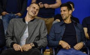 Jokic et Djokovic côte à côte, le 11 juin