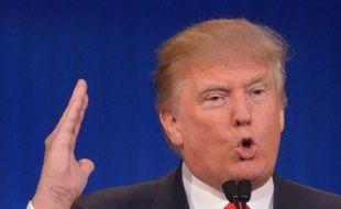 Le candidat à la primaire républicaine Donald Trump lors d'un discours à Cleveland le 6 août 2015