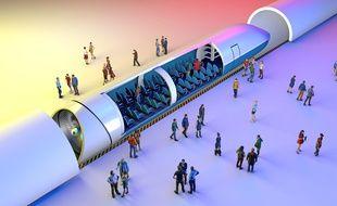 Pas de rames comme dans un TGV ou un train classique, mais une seule capsule, voilà une des particularités de l'Hyperloop.