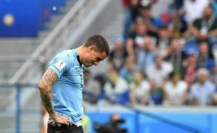 José Giménez est tout triste après l'élimination en quart de la Céleste