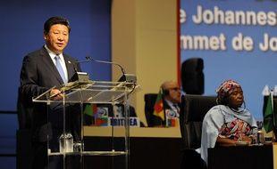 Le président chinois Xi Jinping, lors de son discours au sommet Chine-Afrique de Johannesburg , le 4 décembre 2015.