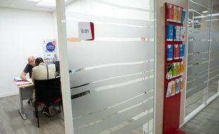 Entretien dans une agence Pôle emploi de Paris (image d'illustration).