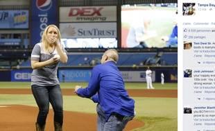 Melissa Dohme et son futur mari.