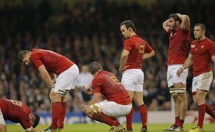 Le XV de France après sa défaite contre la Nouvelle-Zélande lors de la Coupe du Monde de rugby 2015