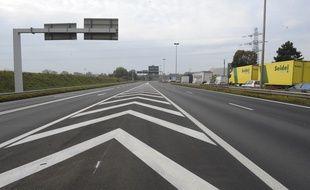 Illustration autoroute. Strasbourg le 19 10 2010. .