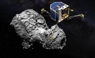 Le module Philae en approche au-dessus de la comète