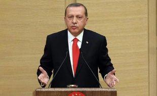 Le président islamo-conservateur turc Recep Tayyip Erdogan, le 11 août 2015 à Ankara