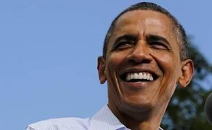 Le président américain, Barack Obama, lors d'une visite à l'université du Colorado (Etats-Unis), le 2 septembre 2012.