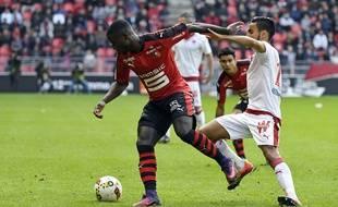 Paul-Georges Ntep aurait pu offrir les trois points de la victoire au Stade Rennais, face à Bordeaux.