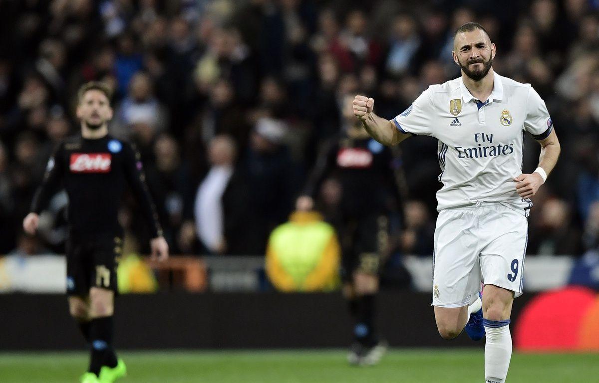 Karim Benzema a marqué son 51e but en Ligue des champions – JAVIER SORIANO / AFP