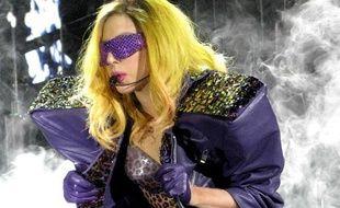 La chanteuse Lady Gaga à Londres, le 16 décembre 2010