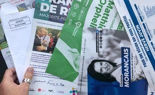 Exemples de propagande électorale en Pays-de-la-Loire.