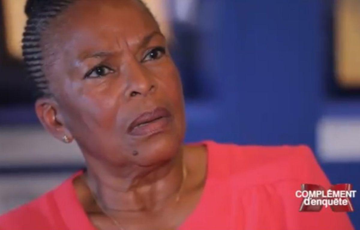 Christiane Taubira dans «Complément d'enquête» diffusé le 5 octobre 2017 sur France 2. – Capture d'écran France 2