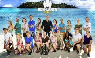 Denis Brogniart et les candidats de «Koh-Lanta Fidji».