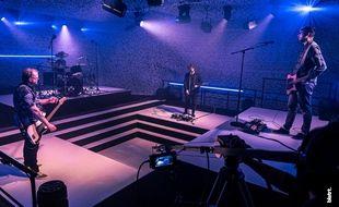 Un studio d'enregistrement a été aménagé dans la salle rock du Hangar à bananes.