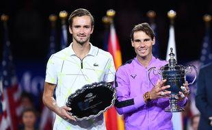 Nadal et Medvedev après la finale de l'US Open 2019 remportée par l'Espagnol.