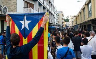 Des manifestants en faveur de l'indépendance de la Catalogne