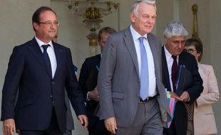 Francois Hollande et Jean-Marc Ayrault, le 7 juillet 2013 à l'Elysée.