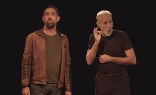 Yann Valade, de la Cave Po', et Patrick Gache, d'Interprétis, ont lancé Byblos, la première bibliothèque sonore et visuelle en Langue des signes.