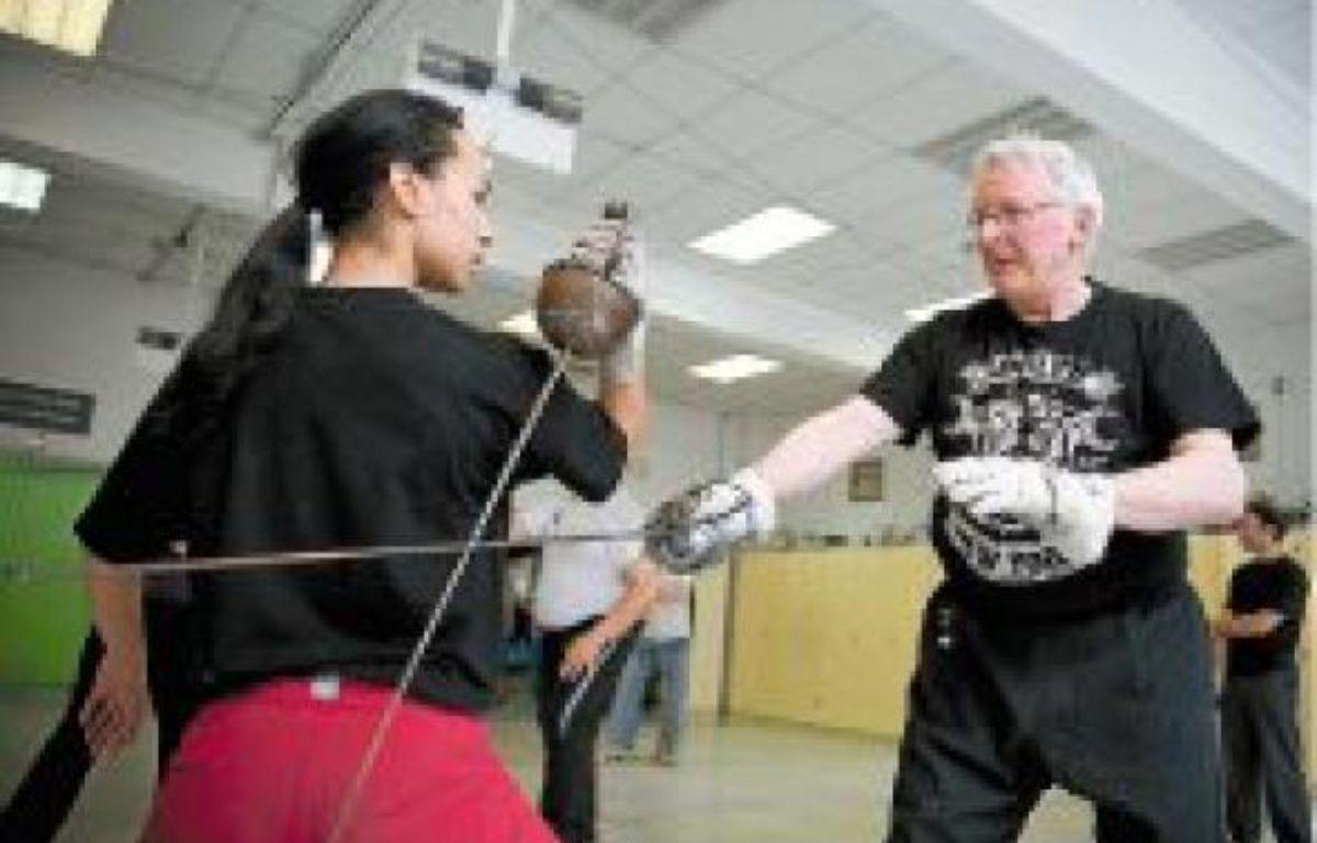 Les élèves s'entraînent à manier l'épée les mardis et jeudis. –  V. WARTNER/20 MINUTES