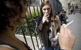 Illustration lycéens et la cigarette