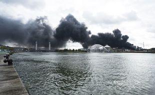 Feu de l'usine Lubrizol de Rouen, septembre 2019.