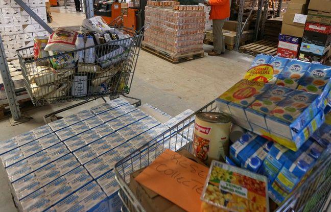Strasbourg le 26 11 2013. La banque alimentaire et ses bénévoles se préparent pour la grande collecte annuelle.