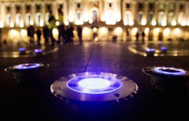Les éclairages Place du Capitole.