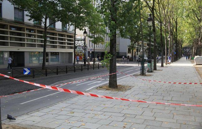 L'assaillant a poursuivi sa course folle en direction du cinéma MK2 situé sur le quai de la Loire (Paris 19e). Le 10 septembre 2018.