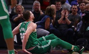Gordon Hayward s'est gravement blessé à la cheville et au tibia lors du premier match de la saison des Boston Celtics, le 17 octobre 2017.