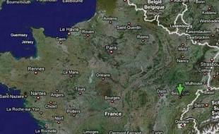 Localisation de Besançon.