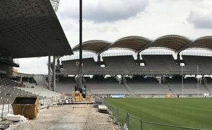 Le stade de Gerland, où les travaux se termineront le 27 août.