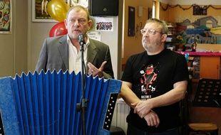 Eric Bourgasser, président de l'association Flonflons (à gauche) et Claude Vadasz, le directeur, lors de la conférence de presse.