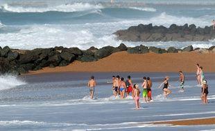 Une plage à Anglet.