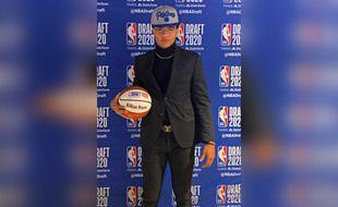 Le basketteur français Killian Hayes a été drafté par les Pistons de Detroit en 7e position, le 18 novembre 2020.