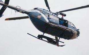 Un hélicoptère de la gendarmerie