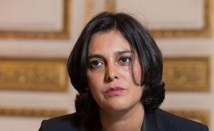 Myriam El Khomri, Ministre du travail dans son bureau. Paris. 04/11/2015