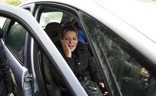 Adele Vinterstein, la mère de l'un des détenus dont la libération a été rejetée pour se rendre à un enterrement. Une décision qui a provoqué une émeute à Moirans (Isère), le 20 octobre 2015.