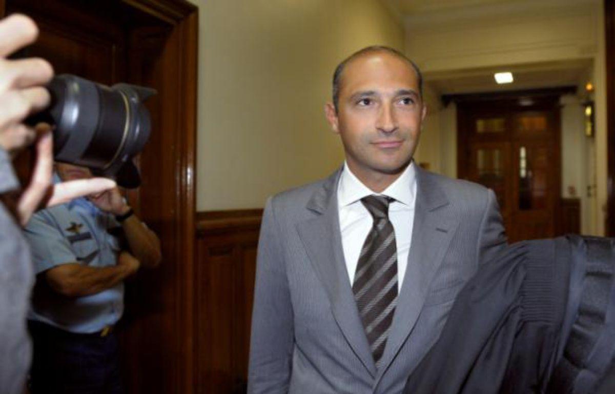 Thomas Fabius, le fils du ministre des Affaires étrangères Laurent Fabius, à son arrivée le 1er juin 2011 au palais de justice à Paris – Bertrand Guay AFP