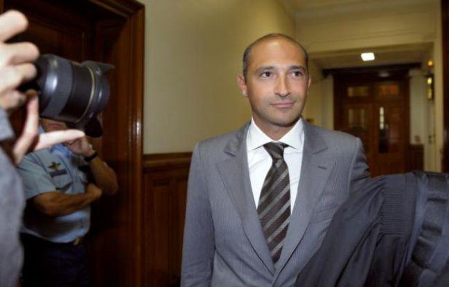 Thomas Fabius, le fils du ministre des Affaires étrangères Laurent Fabius, à son arrivée le 1er juin 2011 au palais de justice à Paris