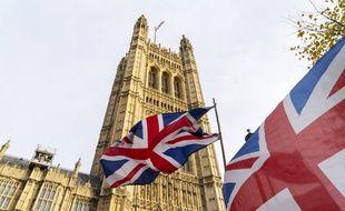Manifestation près du parlement britannique