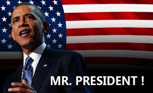 Barack Obama, réélu président le 6 novembre 2012.