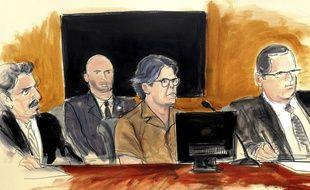 Keith Raniere devant la justice, le 13 avril 2018 pour son rôle au sein de la secte sexuelle Nxivm.